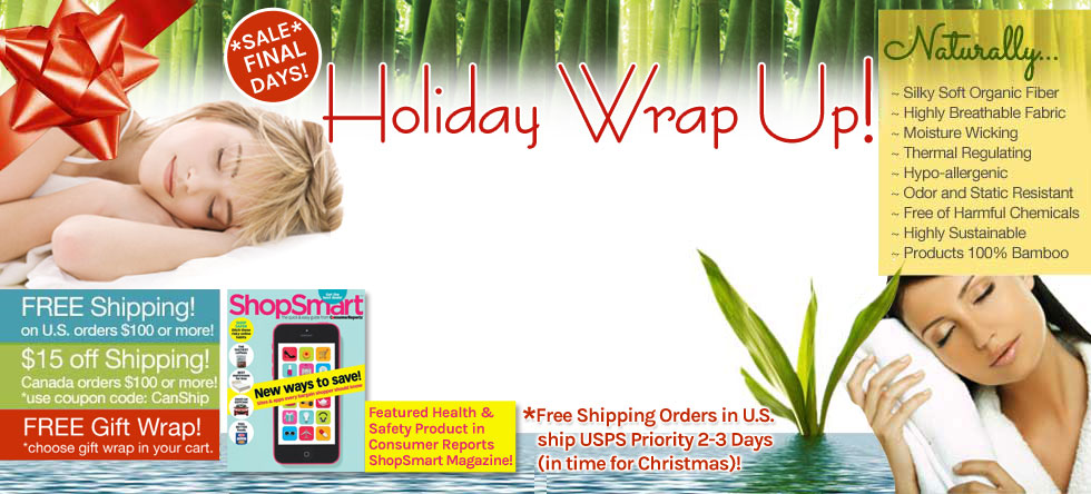 Holiday Wrap Up! Bamboo Bedding Sale!