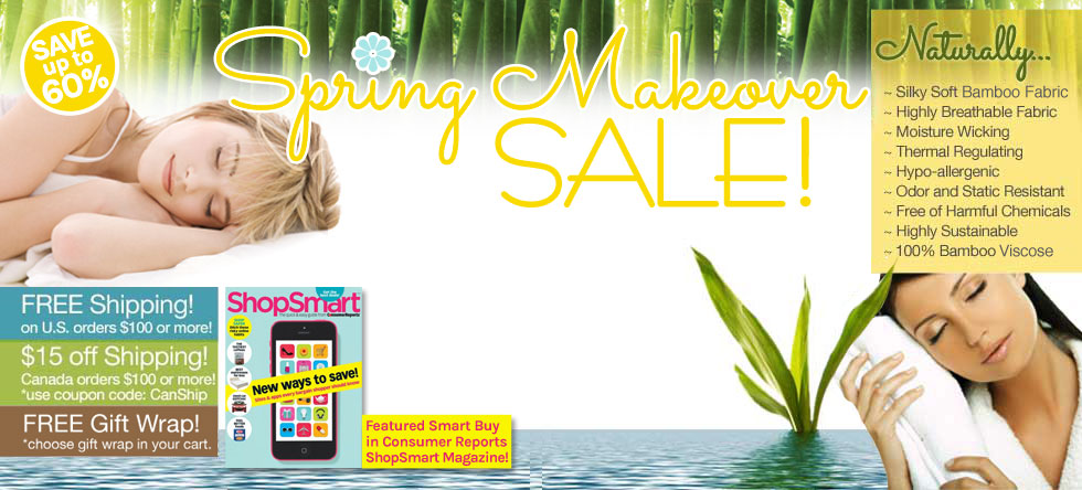 Spring Makeover Bamboo Bedding and Bath Sale!
