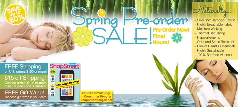 Spring Pre-Order Bamboo Bedding Sale!
