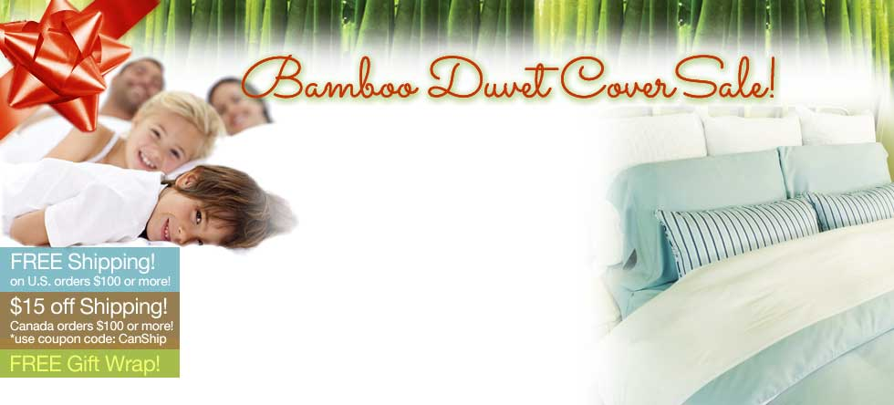 Christmass in July Bamboo Duvet Cover Sale!