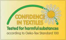 Certified by OekoTex 100 Standard