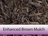 Enhanced Brown Bark Mulch
