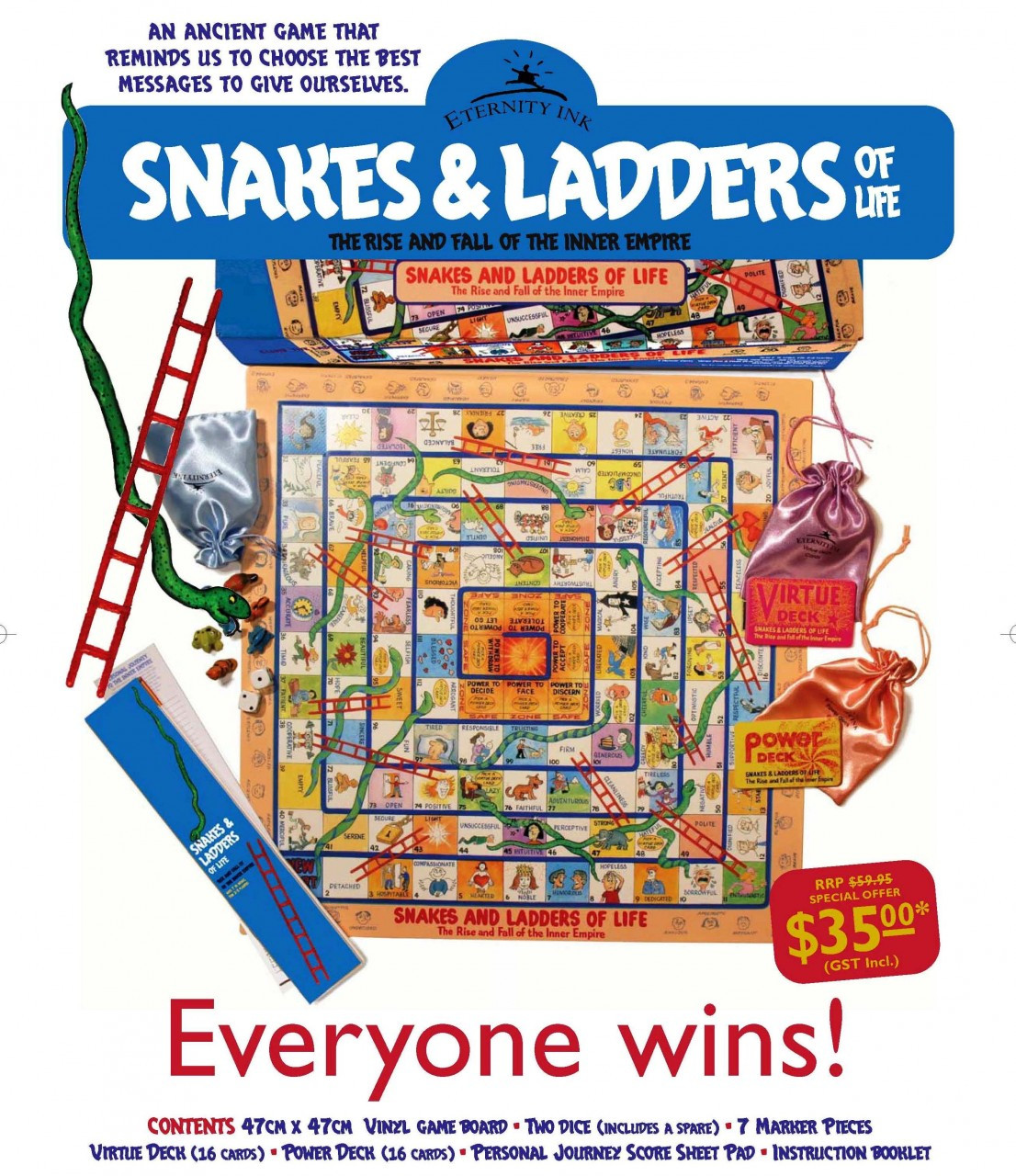 Snakes and ladders of life education tool kids games education1106