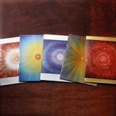 Star greeting cards - Set of 5 beautiful greeting cards