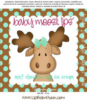 Vanilla Mint Baby Moose Lips Lip Balm - Mint Chocolate Chip Ice Cream