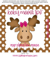 Marshmallow Moose Baby Moose Lips