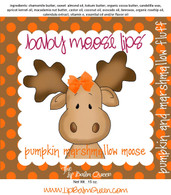Pumpkin Marshmallow Moose Baby Moose Lips Lip Balm