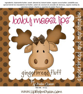 Gingerbread Fluff Baby Moose Lips Lip Balm