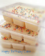 Happy Birthday Cake Breakable Wax in a Clamshell Container