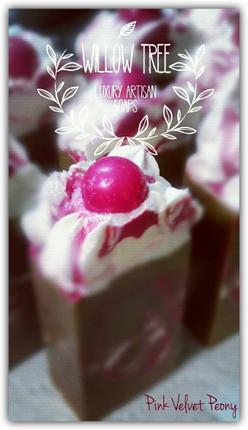 Pink Velvet Peony Luxury Artisan Soap