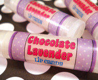 Every chocolate lovers dream! Deep rich dark chocolate blended with sweet gentle lavender. This is made not to be herbaceous but sweet.  Gives your lips a nice clear shine, superior moisture and protection from the elements. Super soft and buttery on lips. Why not try a couple for layering flavors on your lips? Just put one in your purse or in your pocket and you are good to go!  Youƒ??ve tried the rest; now treat your lips to the best! Donƒ??t let the name fool you, my lip products are a wonderful lip quenching butter and balm combined into one, making it The Best formula for your lips. Each one is full of moisture rich ingredients and has more than 3 skin quenching butters and 4 moisturizing oils making it one of the Top Shelf lip products available.  This is a GRAPE combination of butters and oils blended by hand in small batches for superior freshness and quality control then poured by hand into eco-friendly packaging.  This listing is for 1 Lip Candy and contains approximately .15 oz