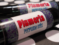 Plumeria Perfume Stix - Solid Perfume - Handmade - All Natural and Paraben Free  The smell makes you want to wander onto the nearest plane and go island hopping. It's sweet ambrosia nectar is sure to please the most discerning nose. With its top notes of bright fruit notes of green apple, peach and berries. A rich floral heart introduces jasmine and lily of the valley, and a drydown with a rich balsamic base. This solid perfume is extremely popular and people canƒ??t get enough of it!  Perfect to carry along in your purse or pocket for little touch-ups throughout the day.    Perfume Stix are great for layering scents as well which is one of my favorite ways to use them. Just put one or two in your purse or in your pocket and you are good to go!  PERFECT SIZE FOR PURSE, TRAVEL OR BACKPACK  My Perfume Stix are all infused with richly scented high quality fragrances and or essential oils which absorb quickly into the skin making you smell great for hours! This is a GRAPE combination of oils blended by hand in small batches for superior freshness and quality control then poured by hand into ƒ?? eco-friendly packaging.  Follow this link to see more of my Perfume Stix in different fragrances: http://www.etsy.com/shop/forgoodnessgrape?section_id=7039086  This listing is for 1 solid Perfume Stix and contains approximately .15 oz