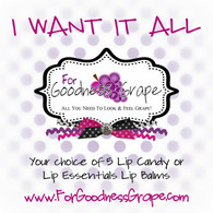 I Want it All ForGoodnessGrape Lip Balm Collection