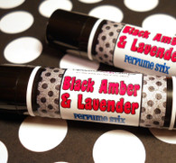 Black Amber and Lavender Solid Perfume Stick