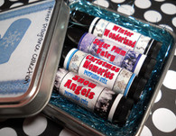 Winter Perfume Collection - Holiday Solid Perfume Set in Tin Container - Ready to Give