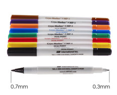 Cryo markers for laboratory use, fine and extra fine tip.