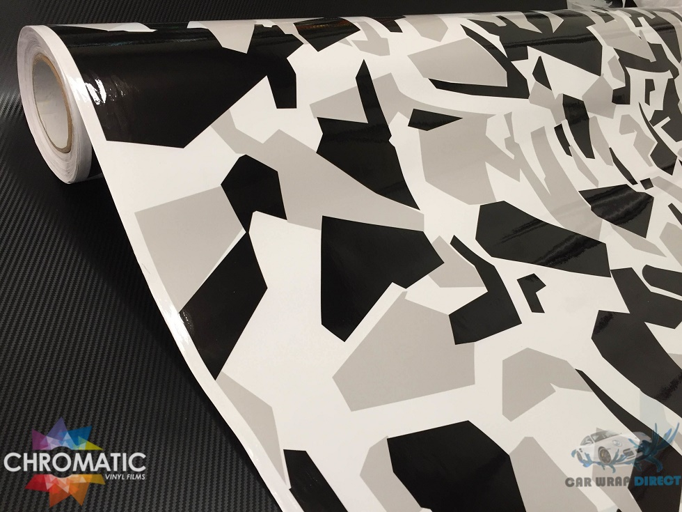 Arctic Snow Camouflage Vinyl With Adt