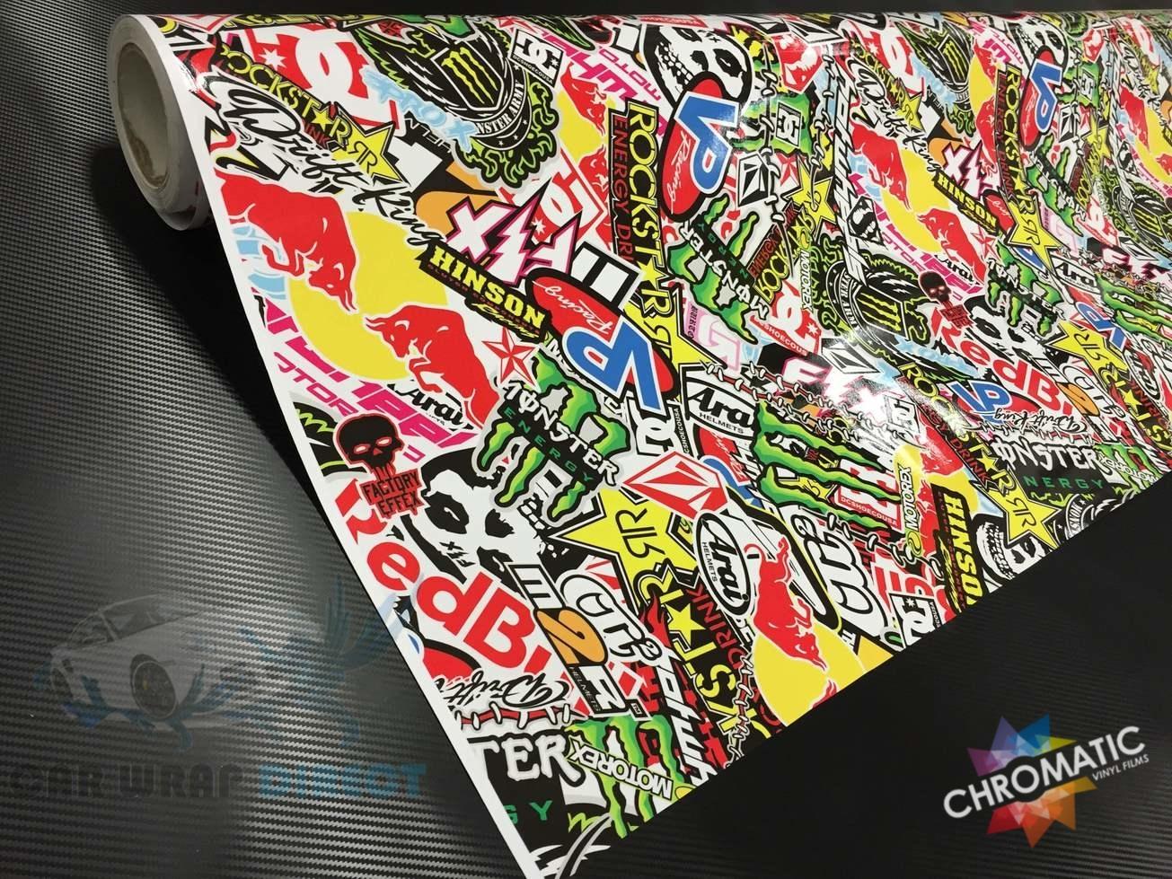 Sticker bomb car design - Energy Drinks Monster Stickerbomb Car Wrap Jpg