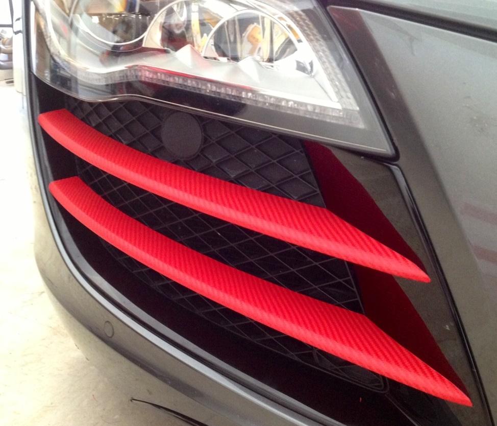 3d carbon fibre vinyl with adt red car wrap direct. Black Bedroom Furniture Sets. Home Design Ideas