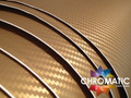 3D Carbon Fibre Vinyl with ADT - Gold