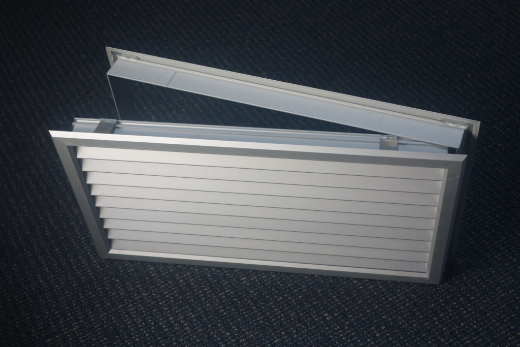 Door vent double sided 600 x 450mm anodised for Door ventilation design