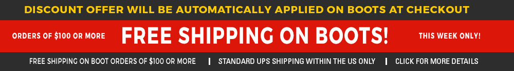 Free Shipping on boots