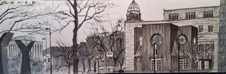 Don Colley © Colorado State Capitol from Denver Art Museum
