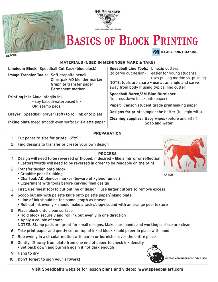 Lesson Plan 13 Basics of Block Printing