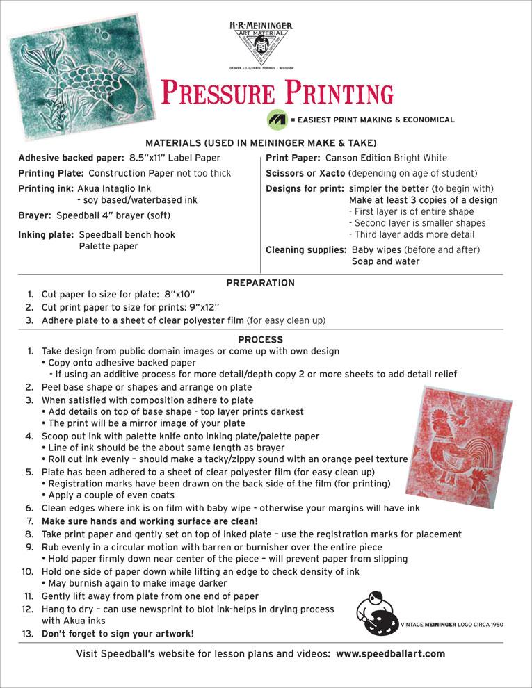 Lesson Plan 13 Pressure Printing