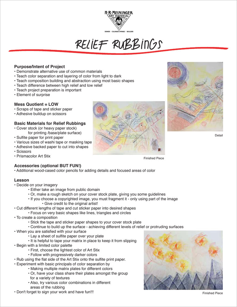 Lesson Plan 15:  Relief Rubbing