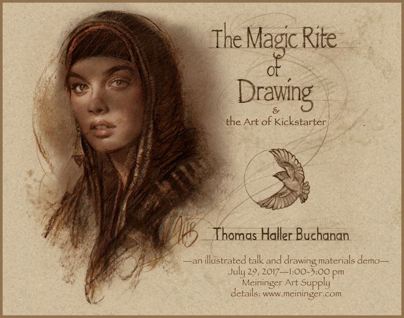Thomas Buchanan: The Magic Rite of Drawing, Saturday, July 29, 1-3pm, Denver store only