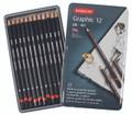 Derwent Graphic Medium Pencil 12pc Tin
