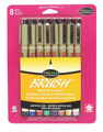 Pigma Brush Assorted Colors 8pc set