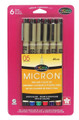 Micron 05 Assorted Color 6pc