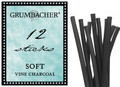 Grumbacher Vine Charcoal Soft 12pk