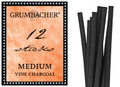Grumbacher Vine Charcoal Medium 12pk