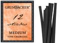 Grumbacher Vine Charcoal Medium 12pk