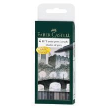 Pitt Pen Grey Brush 6pc