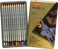 Derwent Metallic Pencil 12pc Tin Set