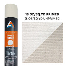 Heavy Cotton Canvas Roll 13oz. Primed