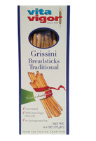 All Natural Plain Grissini Breadsticks (Case of 12)