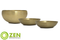 "Therapeutic Series Zen Singing Bowl Group 6.75"", 5.5"", 5.5"" ztg1"