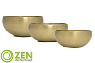 "Therapeutic Series Zen Singing Bowl Group 6.75"", 4.75"", 4.75"" ztg3"
