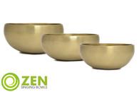 "Therapeutic Series Zen Singing Bowl Group 6.75"", 4.75"", 4.75"" ztg3"