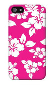 S2246 Hawaiian Hibiscus Pink Pattern Case For IPHONE 5 5s SE