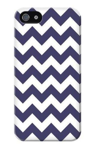 S2345 Navy Blue Shavron Zig Zag Pattern Case For IPHONE 5 5s SE