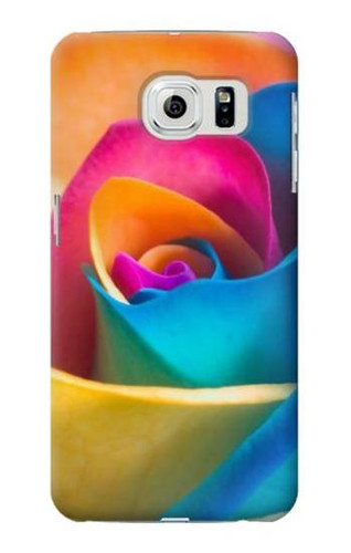 S1671 Rainbow Colorful Rose Case For Samsung Galaxy S6 Edge