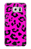 S1850 Pink Leopard Pattern Case For Samsung Galaxy S6 Edge