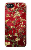 S2414 Red Blossoming Almond Tree Van Gogh Case For IPHONE 5 5s SE
