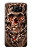 S1675 Skull Blood Tattoo Case For Galaxy S6 Edge Plus